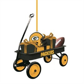 Green Bay Packers Wagon Ornament