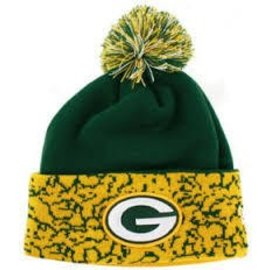 Green Bay Packers Mens Cuffed Chaos Knit Hat