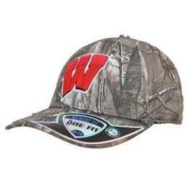 Wisconsin Badgers Flex Fit Camo Hat