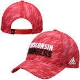 Wisconsin Badgers Adjustable Hat - Red Camo
