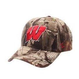 Wisconsin Badgers Staple Camo Adjustable Hat