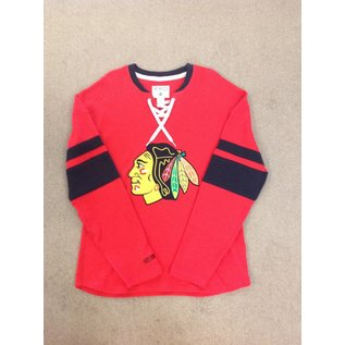 Chicago Blackhawks Men's Long Sleeve Jersey with Strings