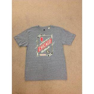Chicago Blackhawks Men's Gray Short Sleeve Tee