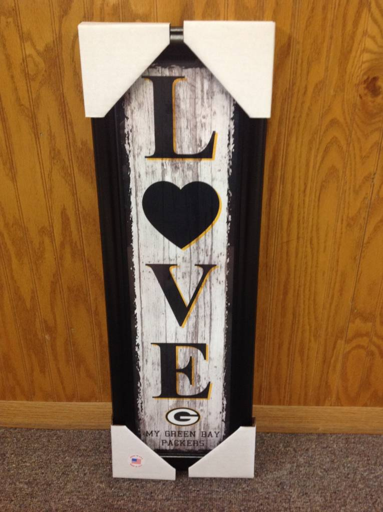Green Bay Packers Framed Love Vertical Plaque - Packerland Plus