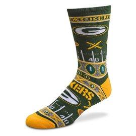 Green Bay Packers Super Fan Socks Size Medium