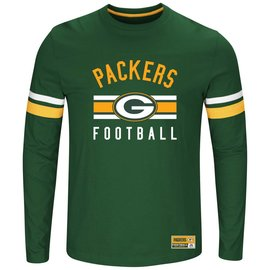 Green Bay Packers Men's Power Hit Long Sleeve Tee