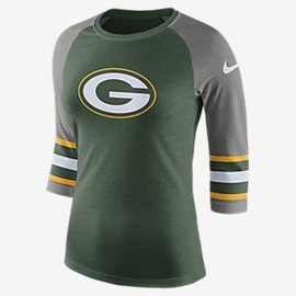 Green Bay Packers Women's 3/4 Sleeve Triblend Tee