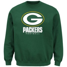 Majestic Green Bay Packers Men's Critical Victory III Crew Sweatshirt
