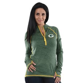 Majestic Green Bay Packers Women's Power Run 1/4 Zip