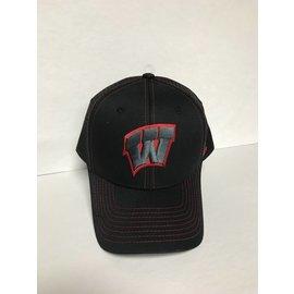 Wisconsin Badgers Staple Trucker Black Out Adjustable Hat