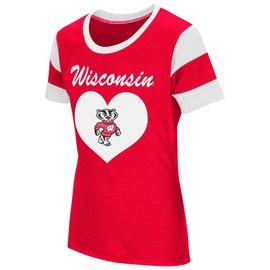 Wisconsin Badgers Girls Bronze Medal Short Sleeve Tee