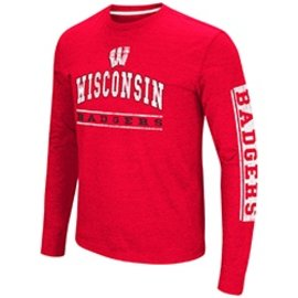 Wisconsin Badgers Men's Skybox Long Sleeve Tee