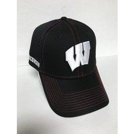Wisconsin Badgers 39-30  Black Shock Stitch Neo Hat