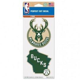 Milwaukee Bucks 2 Pk Perfect Cut Decal