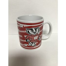 Wisconsin Badgers 11 oz Bucky With Pattern Mug