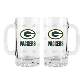Green Bay Packers 16oz Satin Etched Tankard