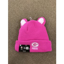 Green Bay Packers Toddler Pink Cozy Cutie Knit Hat