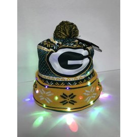 Green Bay Packers Ulgy Light Up Printed Beanie