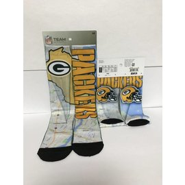 Green Bay Packers Roadmap Socks Size Large