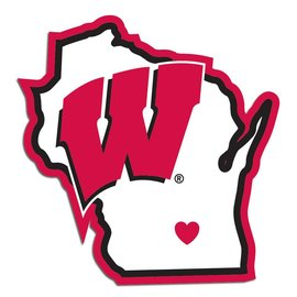 Wisconsin Badgers State Decal