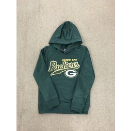 Green Bay Packers Youth Performance Fleece Hoodie With Dot Script
