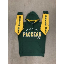 G III Green Bay Packers Centerfield Hands High Pullover Hoodie