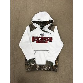 Wisconsin Badgers Men's White With Camo Hoodie