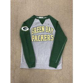 Green Bay Packers Men's Gray Body With Green Sleeves Crewneck Sweatshirt