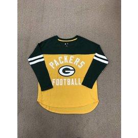 G III Green Bay Packers Women's Goal Line Long Sleeve Tee