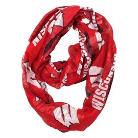 Wisconsin Badgers Team Logo Infinity Scarf