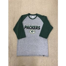 Green Bay Packers Men's Club Raglan 3/4 Sleeve Tee