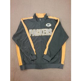 Green Bay Packers Men's Charcoal and Yellow Track Jacket
