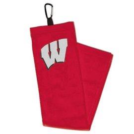 Wisconsin Badgers Golf Towel with Caribiner