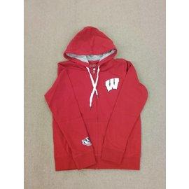 Wisconsin Badgers Women's Red with Bling W Full Zip Hoodie