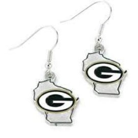 Green Bay Packers State Design Earrings