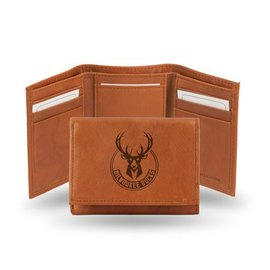 Milwaukee Bucks Leather Trifold Wallet