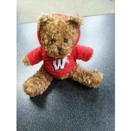 """Wisconsin Badgers 8"""" Musical Hoodie Bear"""