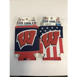 Wisconsin Badgers Red, White, and Blue Can Cooler