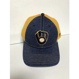 Milwaukee Brewers 9-40 Shadow Turn 2 Ball and Glove Logo Adjustable Hat
