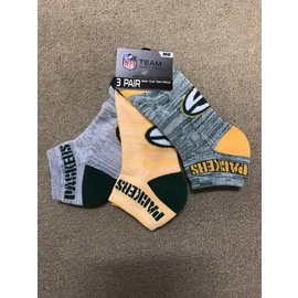Green Bay Packers Men's Money 3 Pack Socks Large