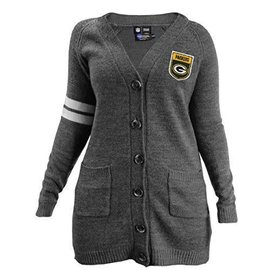 Green Bay Packers womens Gray cardigan size Small/Medium