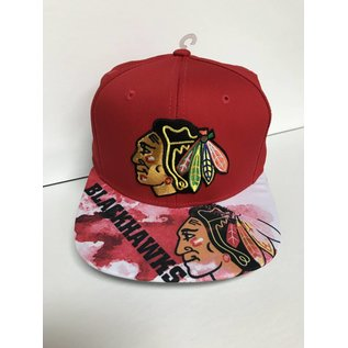 Chicago Blackhawks Sublimated Flat Bill Snapback