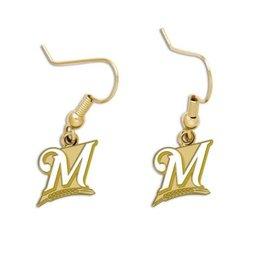 Milwaukee Brewers dangle earrings - white M