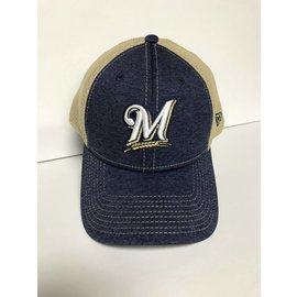 Milwaukee Brewers 9-40 Shadow Turn 2 M Logo Adjustable Hat
