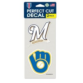 Milwaukee Brewers 2 pack Perfect 4x4 Decals