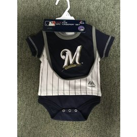 Milwaukee Brewers Newborn Onesie, Bib, and Booties