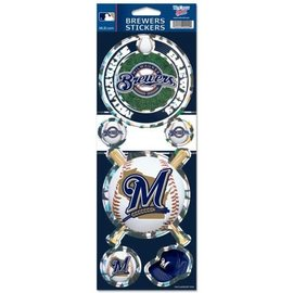 Milwaukee Brewers Prismatic Decal Sheet