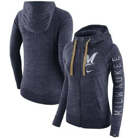 Milwaukee Brewers Women's Vintage Full Zip Hoodie