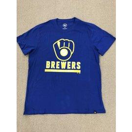 Milwaukee Brewers Men's Rival Ball and Glove Logo Short Sleeve Tee