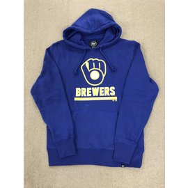 Milwaukee Brewers Men's Ball and Glove Logo Headline Hoodie